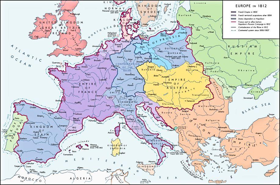 Europakarte 1933