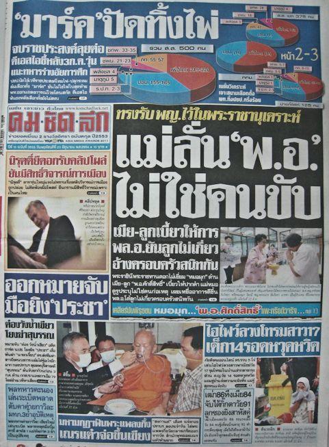 Chronik Thailands 2001 / B. E. 2544 Juli bis Dezember