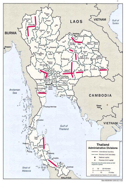 Chronik Thailands 2002 / B. E. 2545 undatiert on