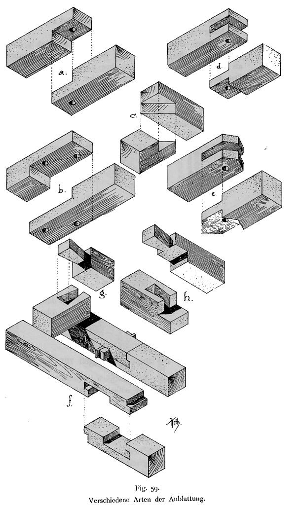 Holz als Material - Holzverbindungen (Architektur für die Tropen)
